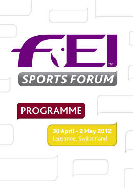 Registration for FEI Sports Forum Closes on 16 March