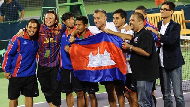 Historic Davis Cup by BNP Paribas success for Cambodia