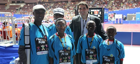 Ping Pong for Peace at Dortmund World Championships