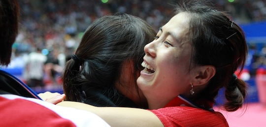 Medallists Known: Women's Team: Korea Republic Takes Revenge