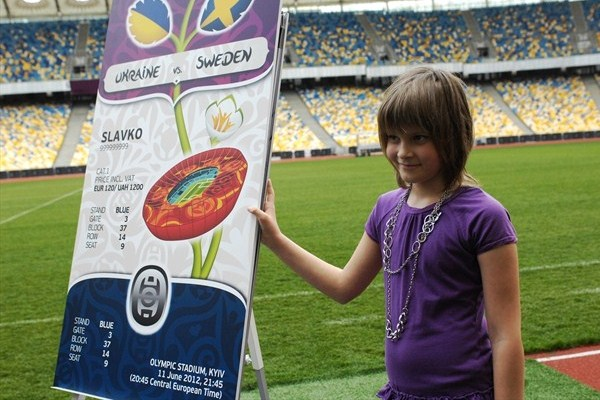 Ukraine and Poland unveil EURO ticket design