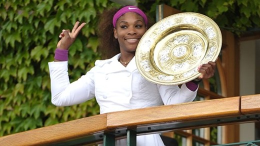 Serena Williams secures fifth Wimbledon title