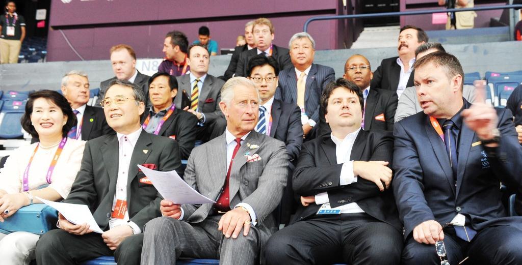 Prince Charles watches badminton