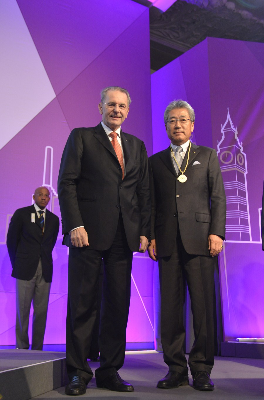 Tsunekazu Takeda with IOC President