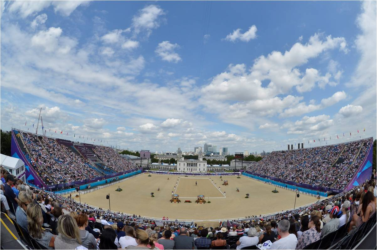 Olympic Dressage is next up at Greenwich Park