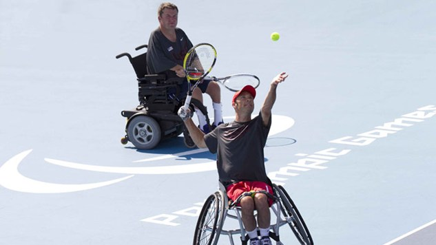 Results for the Paralympic Tennis Event
