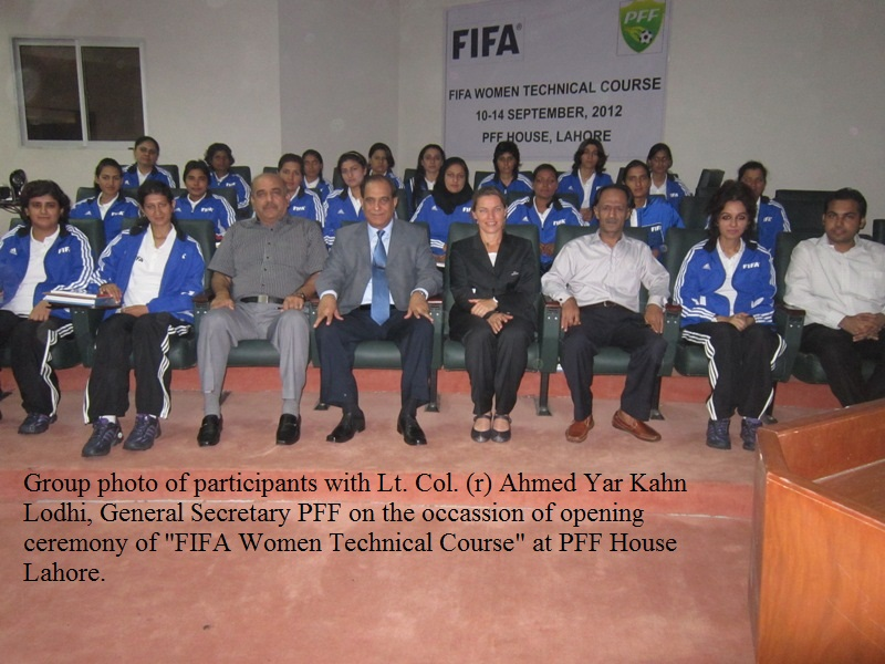 FIFA Women Technical Football Course begins in Football House, Lahore-Pakistan