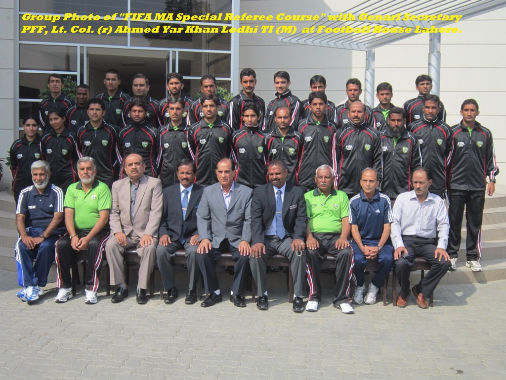 Group Photo of FIFA MA Referee Course-20th to 24th October-2012