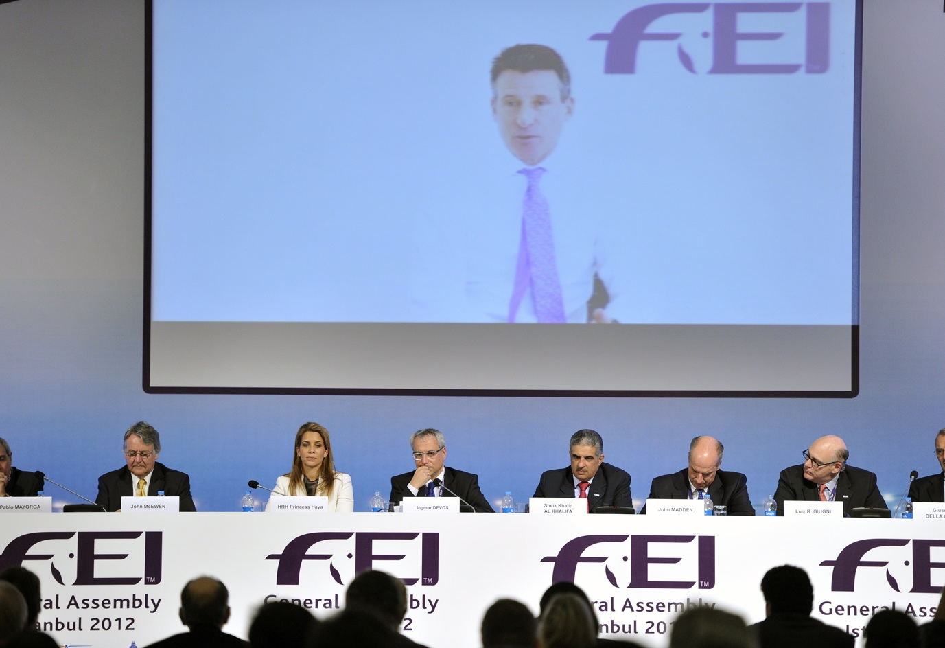 Lord Coe addresses FEI General Assembly