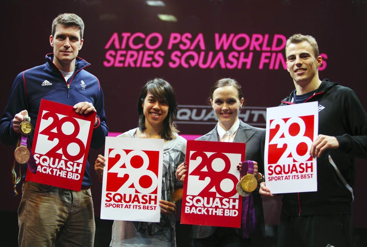 Olympians show their support for Squash 2020 bid