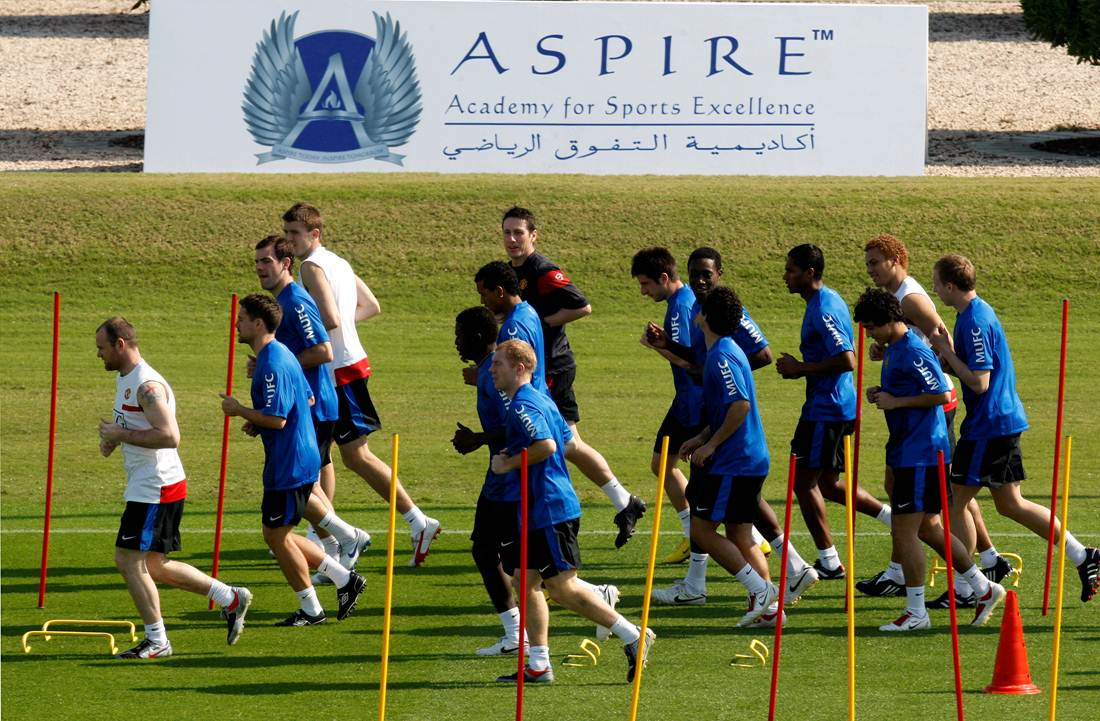 Manchester United choose Aspire Zone