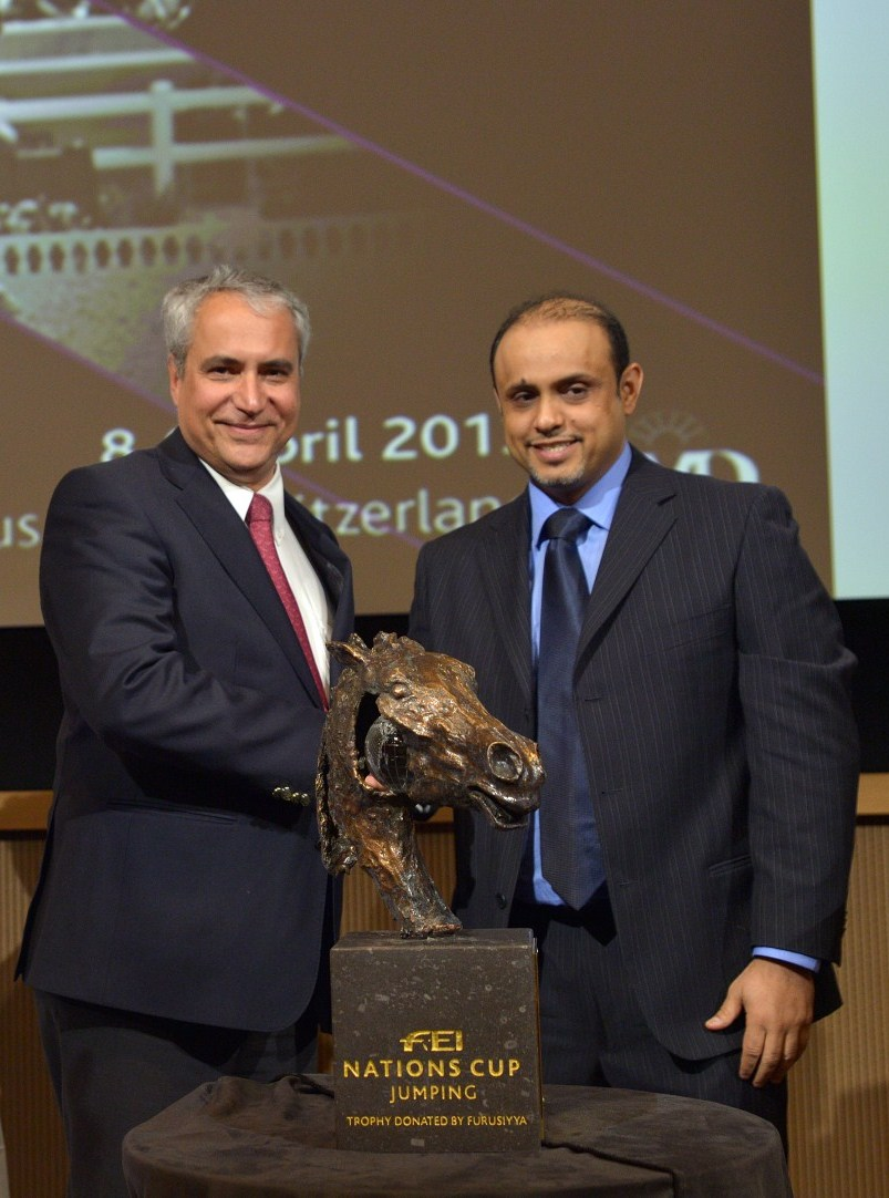 Jumping trophy unveiled during FEI Sports Forum