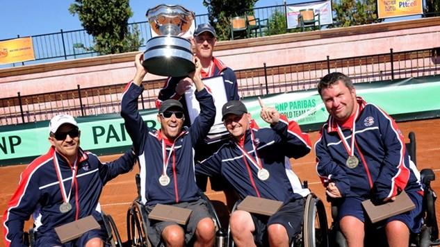 USA wins quad title in BNP Paribas wheelchair tennis
