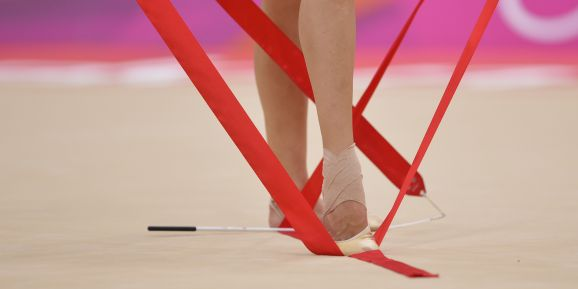 Olympic Games London 2012: detail feet and ribbon