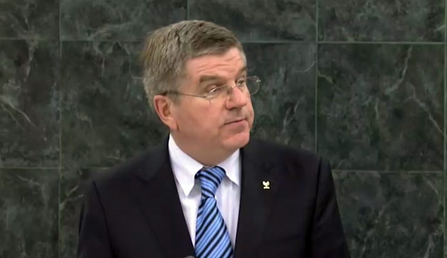 IOC President to deliver speech at UN General Assembly with sport set to be included in Sustainable Development Goals