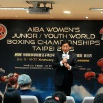 AIBA President during the press conference in Taipei 2015
