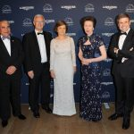 LONDON, ENGLAND - JUNE 13:  (L-R) Ingmar de Vos, President of the FEI, Louis Romanet, Chairman of the International Federation of Horse Racing Authorities, Nathalie Belinguier, President of the International Federation of Gentlemen and Lady Riders (FEGENTRI), HRH Princess Anne, The Princess Royal and Juan-Carlos Capelli, VP and head of international marketing for Longines during the Longines Ladies Awards at the National History Museum on June, 13, 2016 in London, United Kingdom. The event honoured Her Royal Highness The Princess Royal for her lifelong commitment to equestrian sport.  (Photo by Eamonn M. McCormack/Getty Images for Longines ) *** Local Caption *** Princess Anne;The Princess Royal;Ingmar de Vos;Louis Romanet;Nathalie Belinguier;Juan-Carlos Capelli