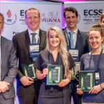 Left to right: Director of the GSSI Dr. James Carter together with the GSSI Award winners 2016: Andrew Holweda, Jorn Trommlen, Imre Kouw, Kelly Hammond and Lindsay McNaughton