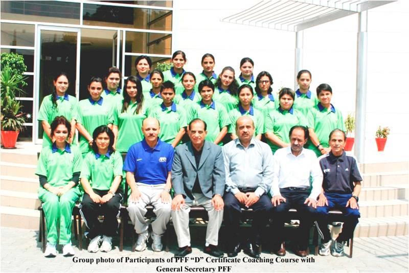 "PFF ""D"" Certificate Coaching Course for Women-2012 begins"