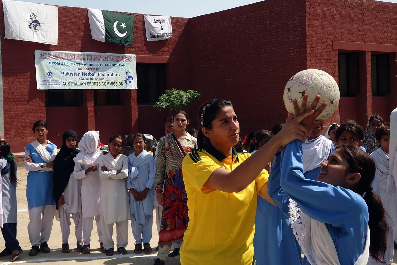ASC Girls Netball Coaching & Development Program 2012 at Lodhran