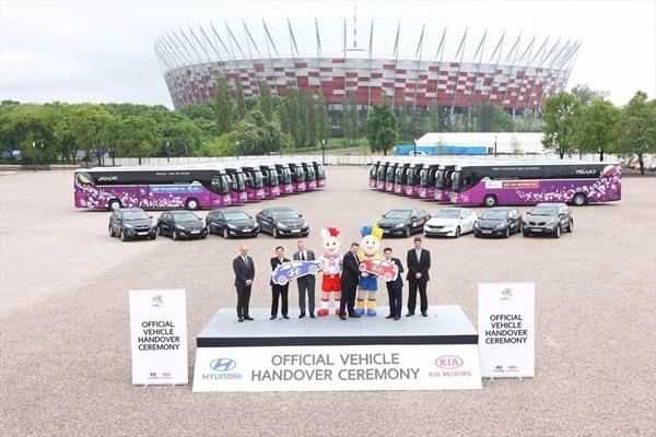 Hyundai-Kia unveil UEFA EURO 2012 fleet