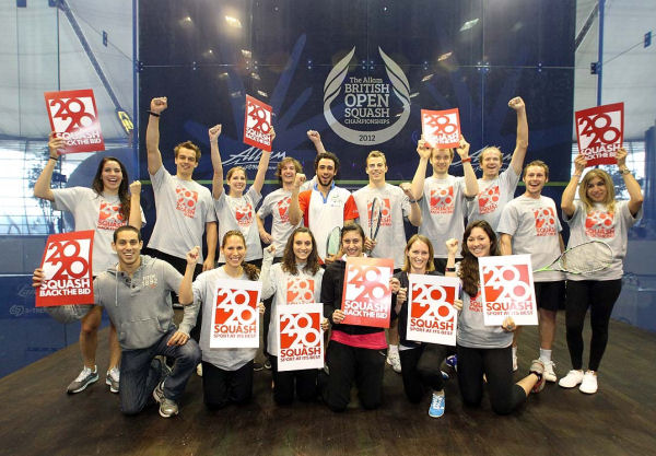 World's Leading Players Unite In London to Support Squash 2020 Olympic Dream
