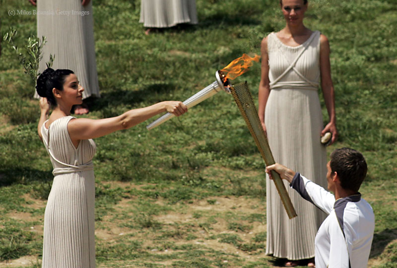 London 2012 – Olympic flame lit at Olympia