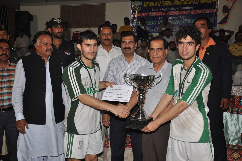 Final Results of National Football Championship 2012 Bahawalpur