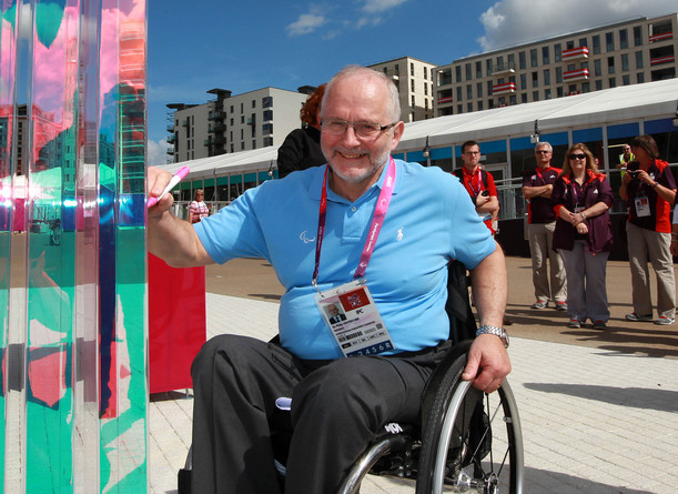 Sir Philip Craven unveiled the Paralympic Wall